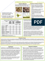 Cellulosic Ethanol Fact Sheet