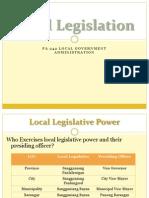 PA 242 Summer Class Local Legislation