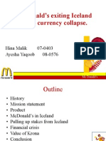 Mc Donald's exiting Iceland due to currency collapse