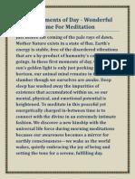Best Time for Meditation