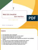 Web GUI Checklist