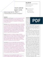 Efecto Glide Cervical Sobre El Ultt Physiotherapy)