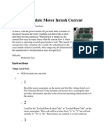 How to Calculate Motor Inrush Current