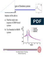 Lecture 19 Two DOF Systems Forced