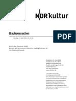 gsmanuskript615 - Norddeutscher Rundfunk Skript