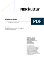 gsmanuskript611 - Norddeutscher Rundfunk Skript