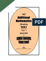 Simultanous Equation 2012