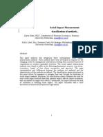 Social Impact Measurements