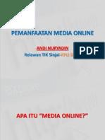 Pemanfaatan Media Online
