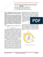 Analysis of Hydrodynamic Journal Bearing Using Fluid Structure Interaction