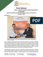 Press Release on AlHuda CIBE Will Conduct a Research Study for Islamic Microfinance in Azerbaijan