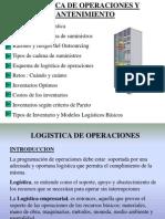 1- Logistica de Operaciones y Mantenimiento