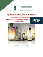 MODULO 1 PROBLEMAS - Expresion de Los Resultados Analiticos
