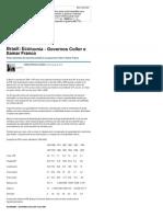 Economia - Governos Collor e Itamar Franco - Artigos - Dinheiro - Administradores