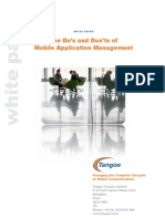 Tangoe WhitePaper - The Dos and Donts of Mobile Application Management