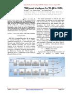 Amendment to FSM based Interleaver for WLAN in VHDL