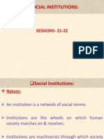 Social Institutions Lecture # 07.
