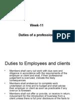 Week-11 Duties of Profession