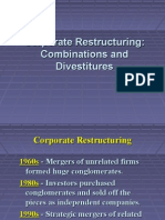 Corporate Restructuring Combinations and Divestitures