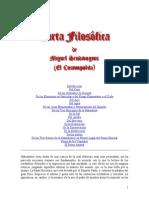 Sendivogius Miguel - Carta Filosofica