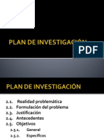 PLAN DE INVESTIGACI+ôN