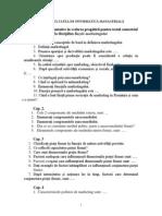 Intrebari materie Bazele Marketingului