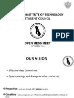 Open Mess Meet