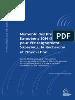 Mémento Des Programmes Européens