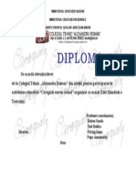 Diploma Caragiale