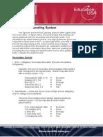 Spanish Grading System