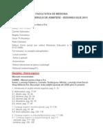 Tematica Admitere Medicina 2014