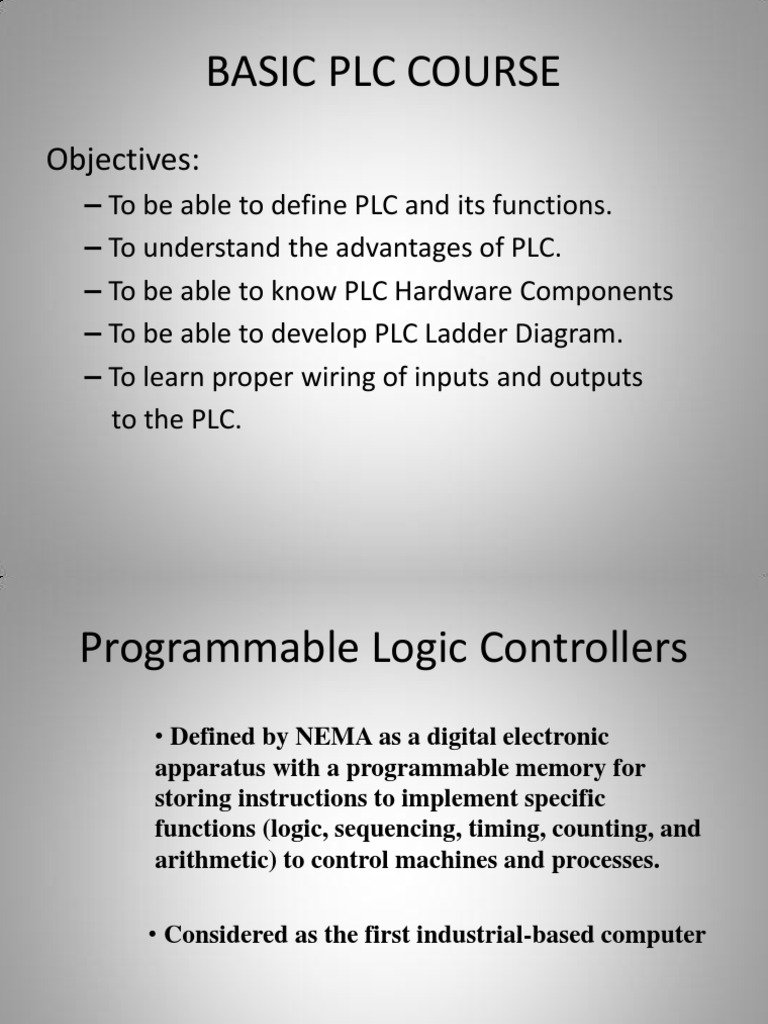 Programmable Logic Controllers Presentation Edited Image A Wiring Diagram Ladder Of Forward Reverse Motor Controller Control System
