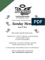 Sunday Lunch Menu 080614