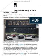 Partially Banning Cars for a Day in Paris Actually Worked - CityLab