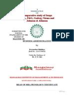 Comparative Study of Soaps HLL, P&G, Godrej, Nirma and Johnson & Johnson Marketing 2014 DEV