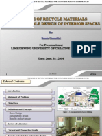 The role of recycle materials for sustainable design of interior spaces