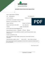 Ficha de Inscrição Para Estágio Não Obrigatorio