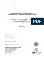Standard Operating Procedures for Laboratory Services