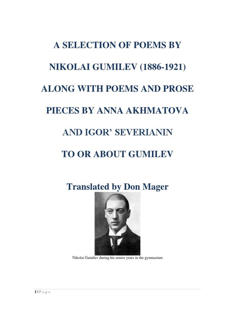 Analysis of the poem Gumilev Stray Tram. Poems by Nikolai Gumilyov 36