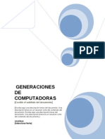 Generaciones Computadores