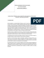 Análisis Del Texto - Reflexiones Sobre El Cambio de La Matriz Productiva y El Sector Externo Ecuatoriano Guido Duque Suárez