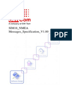 SIM18 NMEA Messages Specification V1.00