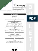Psychotherapy Bulletin 2009, 44(3)