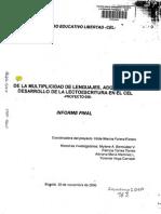 De La Multiplicidad de Lenguajes,Adquisición y Desarrollo de La Lectoescritura