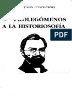 CIESZKOWSKI.a.von-1838-Prolegómenos a La Historiosofía