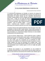 DECLARACIÓN DE PAZ DE LA IGLESIA PRESBITERIANA DE COLOMBIA