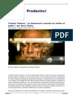 La Democracia Consiste en Limitar El Poder, Boris Muñoz