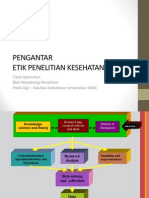 Etik Penelitian Biomedik