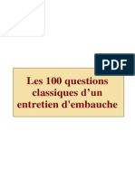 100 Questions de Recrutement