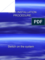 LINUX INSTALLATION PROCEDURE